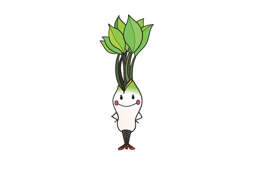 山菜をモチーフにしたゆるめのキャラクター「こしあぶらちゃん」